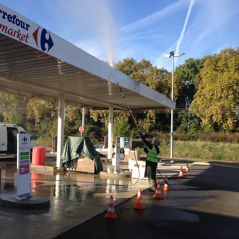 Nettoyage Auvent Station carburant